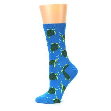 Image of Blue Sea Turtles Women's Dress Socks (side-2-11)