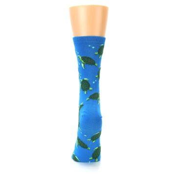 Image of Blue Sea Turtles Women's Dress Socks (back-18)