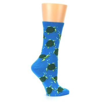 Image of Blue Sea Turtles Women's Dress Socks (side-1-24)