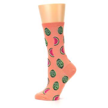 Image of Orange Watermelon Women's Dress Socks (side-2-12)