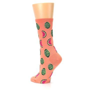 Image of Orange Watermelon Women's Dress Socks (side-2-back-14)