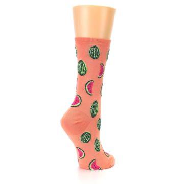 Image of Orange Watermelon Women's Dress Socks (side-1-back-22)