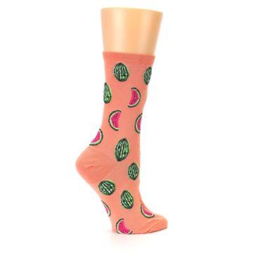Image of Orange Watermelon Women's Dress Socks (side-1-24)