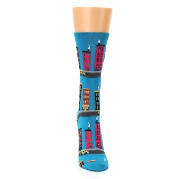 Image of Turquoise City Buildings Women's Dress Socks (front-04)