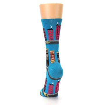 Image of Turquoise City Buildings Women's Dress Socks (back-17)