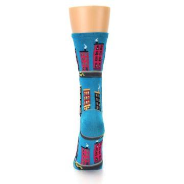 Image of Turquoise City Buildings Women's Dress Socks (back-18)
