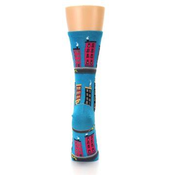 Image of Turquoise City Buildings Women's Dress Socks (back-19)