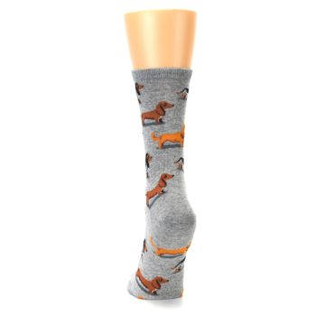 Image of Grey Dachshund Dogs Women's Dress Socks (back-17)
