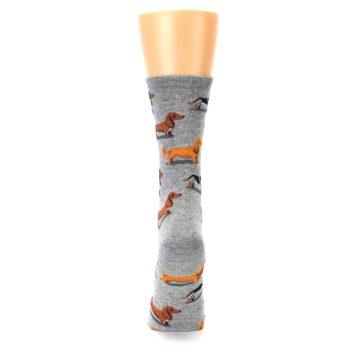 Image of Grey Dachshund Dogs Women's Dress Socks (back-18)