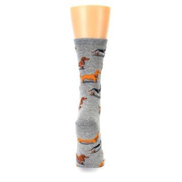 Image of Grey Dachshund Dogs Women's Dress Socks (back-19)