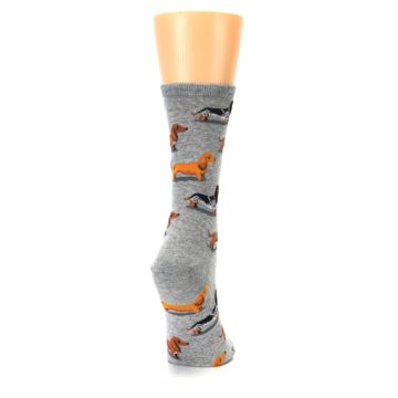 Image of Grey Dachshund Dogs Women's Dress Socks (side-1-back-20)