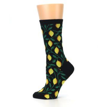 Image of Black Yellow Lemons Women's Dress Socks (side-2-12)