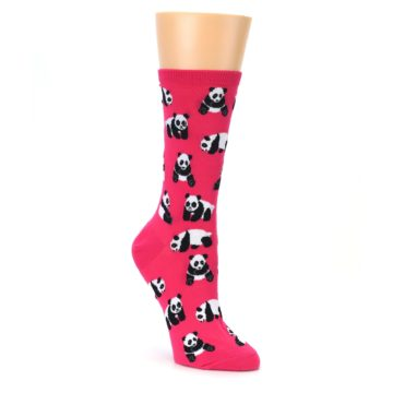 Pink Panda Bear Socks for Women