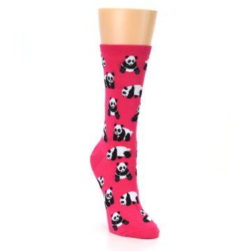 Image of Pink Panda Bears Women's Dress Socks (side-1-front-02)