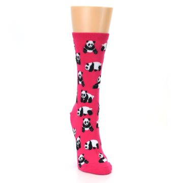 Image of Pink Panda Bears Women's Dress Socks (side-1-front-03)
