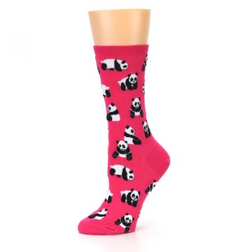 Image of Pink Panda Bears Women's Dress Socks (side-2-10)