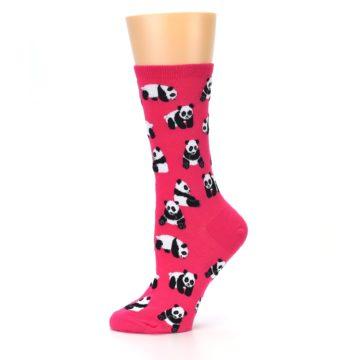Image of Pink Panda Bears Women's Dress Socks (side-2-11)
