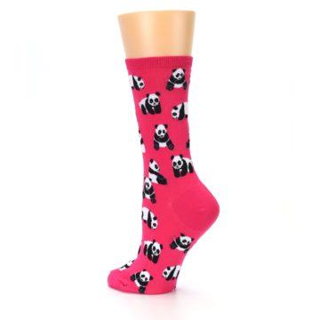 Image of Pink Panda Bears Women's Dress Socks (side-2-back-14)