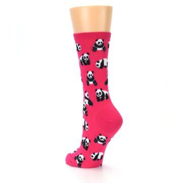 Image of Pink Panda Bears Women's Dress Socks (side-2-back-15)