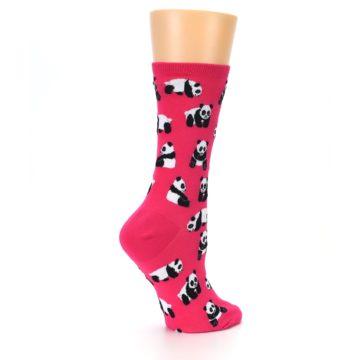 Image of Pink Panda Bears Women's Dress Socks (side-1-23)