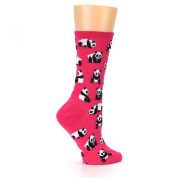 Image of Pink Panda Bears Women's Dress Socks (side-1-24)