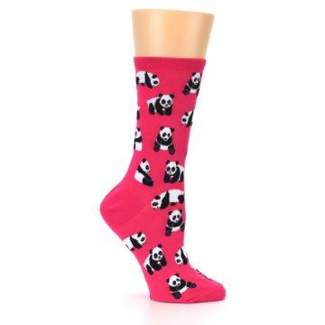 Image of Pink Panda Bears Women's Dress Socks (side-1-25)