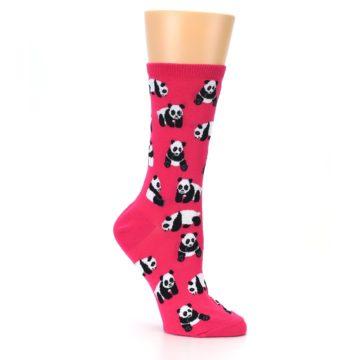 Image of Pink Panda Bears Women's Dress Socks (side-1-26)
