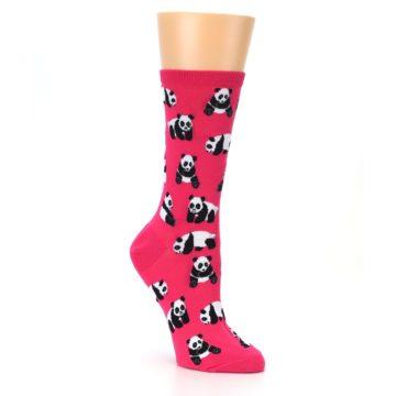 Image of Pink Panda Bears Women's Dress Socks (side-1-27)