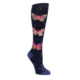 Navy Pink Butterflies Women's Knee High Sock
