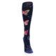 Image of Navy Pink Butterflies Women's Knee High Sock (front-04)