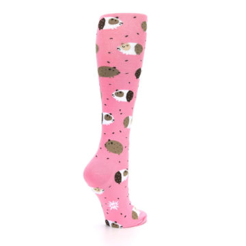 Image of Pink Guinea Pig Women's Knee High Sock (side-1-back-22)