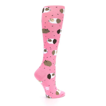 Image of Pink Guinea Pig Women's Knee High Sock (side-1-23)