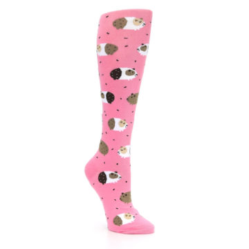 Image of Pink Guinea Pig Women's Knee High Sock (side-1-27)