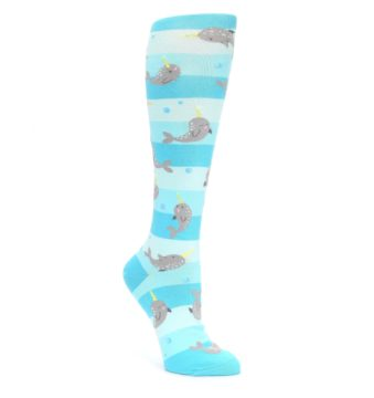 Blue Narwhal Womens Knee High Sock Sock it to me