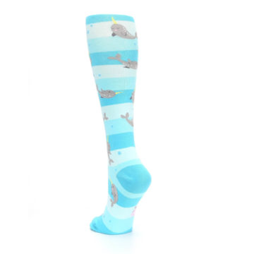 Image of Blue Narwhal Women's Knee High Sock (side-2-back-16)