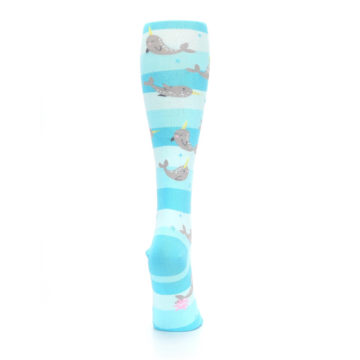Image of Blue Narwhal Women's Knee High Sock (side-1-back-20)
