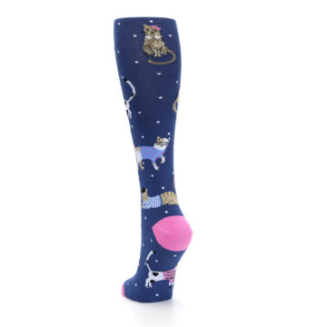 Image of Navy Business Cat-sual Women's Knee High Sock (side-2-back-16)