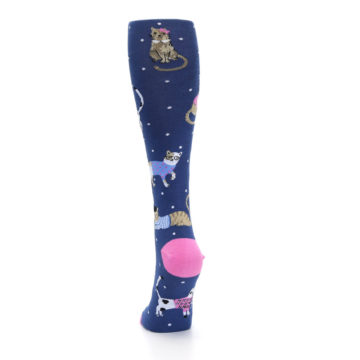 Image of Navy Business Cat-sual Women's Knee High Sock (back-17)