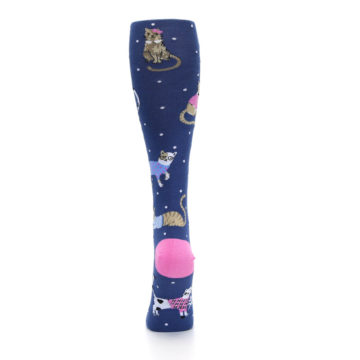 Image of Navy Business Cat-sual Women's Knee High Sock (back-18)