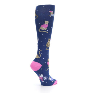 Image of Navy Business Cat-sual Women's Knee High Sock (side-1-23)