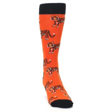 Image of Orange Tiger Men's Dress Socks (side-1-front-03)