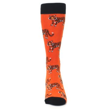 Image of Orange Tiger Men's Dress Socks (front-04)