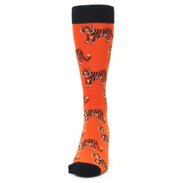 Image of Orange Tiger Men's Dress Socks (front-05)