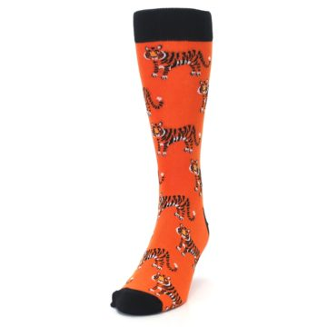 Image of Orange Tiger Men's Dress Socks (side-2-front-06)
