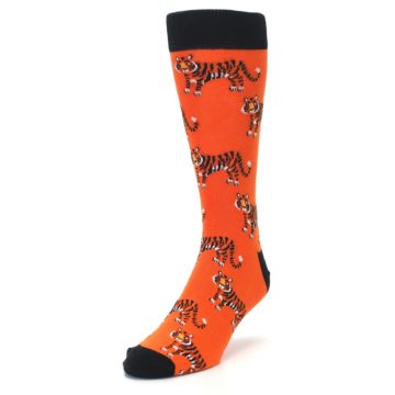 Image of Orange Tiger Men's Dress Socks (side-2-front-07)