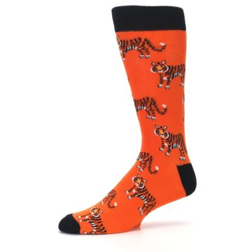 Image of Orange Tiger Men's Dress Socks (side-2-10)