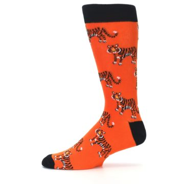 Image of Orange Tiger Men's Dress Socks (side-2-11)
