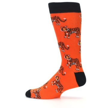 Image of Orange Tiger Men's Dress Socks (side-2-12)