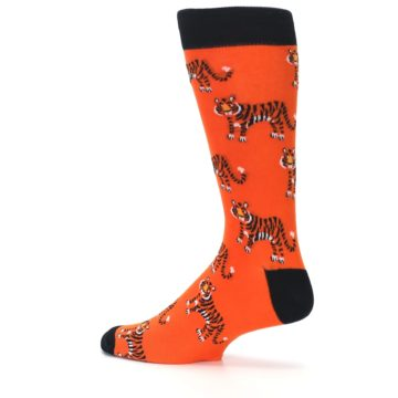 Image of Orange Tiger Men's Dress Socks (side-2-13)