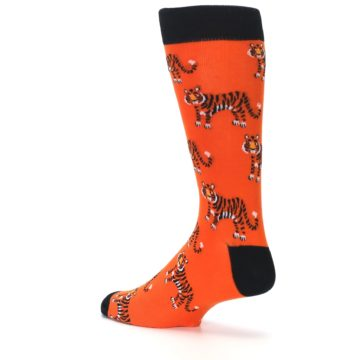 Image of Orange Tiger Men's Dress Socks (side-2-back-14)